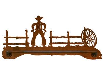 """18"""" Cowboy Scenic Metal Towel Bar"""