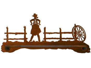 """18"""" Cowgirl Scenic Metal Towel Bar"""