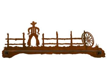 """27"""" Cowboy Scenic Metal Towel Bar"""