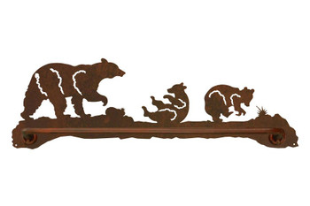 "27"" Bear Family Metal Towel Bar"