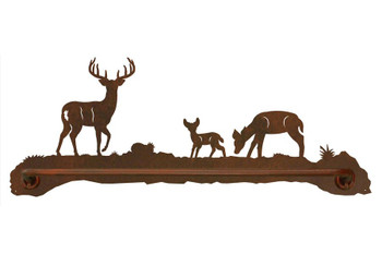 "27"" Deer Family Metal Towel Bar"