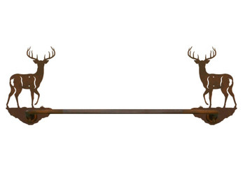 "18"" Whitetail Deer Metal Towel Bar"