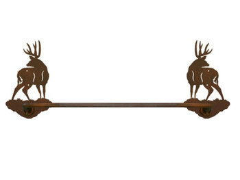"27"" Mule Deer Metal Towel Bar"
