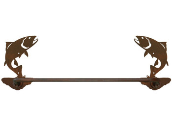 "27"" Trout Fish Metal Towel Bar"