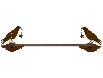 "27"" Crow Bird Metal Towel Bar"