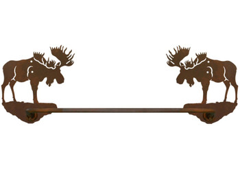 "27"" Moose Metal Towel Bar"