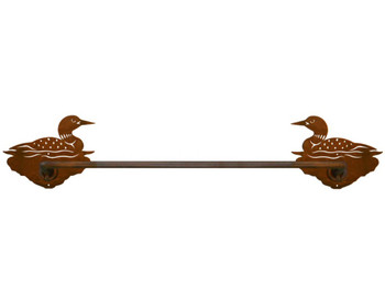 "27"" Swimming Loon Metal Towel Bar"