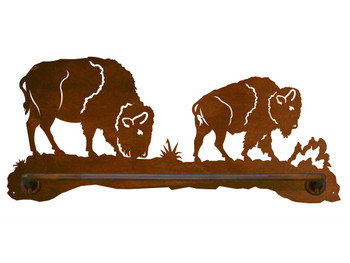 "18"" Buffalo Scenic Metal Towel Bar"