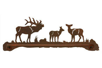"27"" Elk Family Metal Towel Bar"