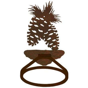 Pine Cone Metal Bath Towel Ring