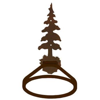 Single Pine Tree Metal Bath Towel Ring