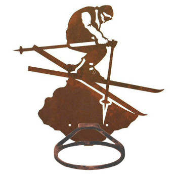 Skier Metal Bath Towel Ring