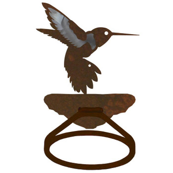 Burnished Hummingbird Metal Bath Towel Ring