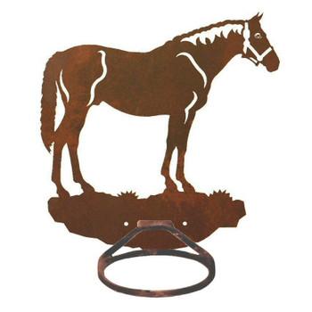 Bay Horse Metal Bath Towel Ring