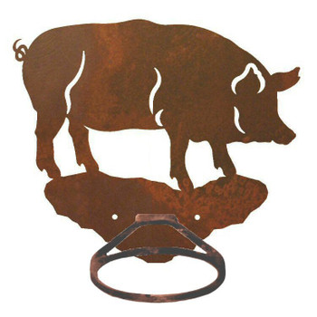 Pig Metal Bath Towel Ring