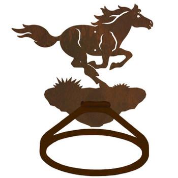 Running Wild Horse Metal Bath Towel Ring