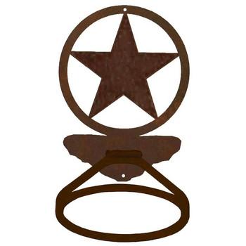 Texas Western Star Metal Bath Towel Ring