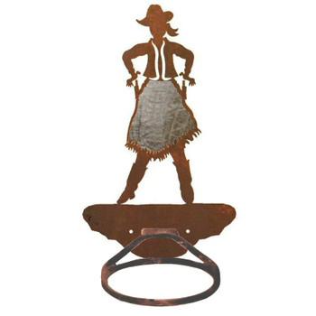 Burnished Cowgirl Metal Bath Towel Ring