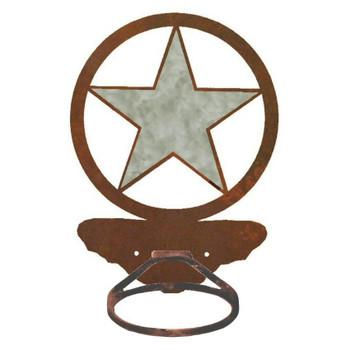 Burnished Texas Star Metal Bath Towel Ring