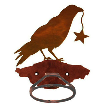 Crow Bird Metal Bath Towel Ring