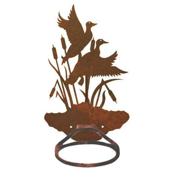 Ducks in the Cattails Metal Bath Towel Ring