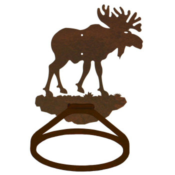 Original Moose Metal Bath Towel Ring