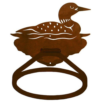 Swimming Loon Metal Bath Towel Ring