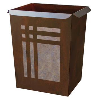 Mission Metal Wastebasket Trash Can