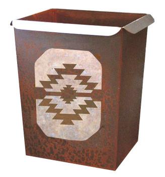 Desert Diamond Metal Wastebasket Trash Can