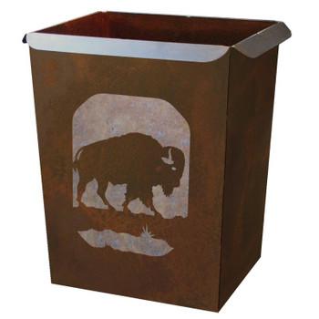 Buffalo Metal Wastebasket Trash Can