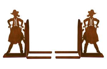 "6"" Cowgirl Metal Bookends"