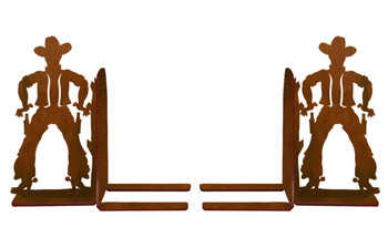 "6"" Cowboy Metal Bookends"