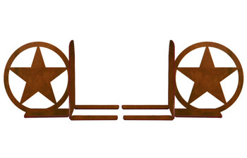 "6"" Texas Western Star Metal Bookends"