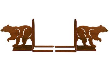 "6"" Walking Bear Metal Bookends"