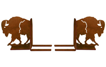 "6"" Walking Buffalo Metal Bookends"