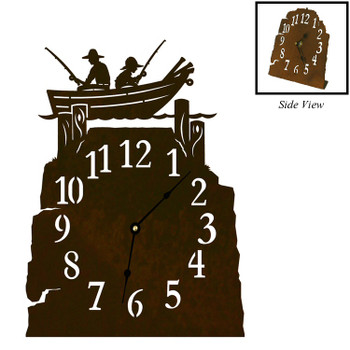 Row Boat Metal Table Clock