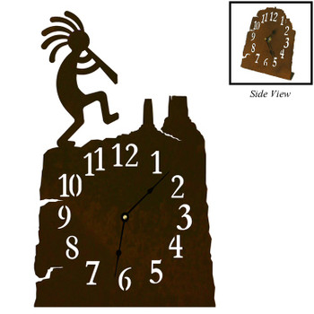 Dancing Kokopelli Metal Table Clock