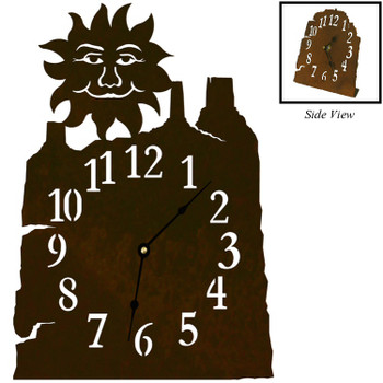 Sun Face Metal Table Clock
