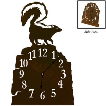 Skunk Metal Table Clock