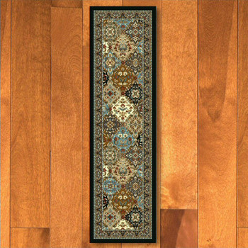 2' x 8' Badillo Multi Color Traditional Rectangle Runner Rug