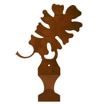 Oak Leaf Metal Drape Rod Holders