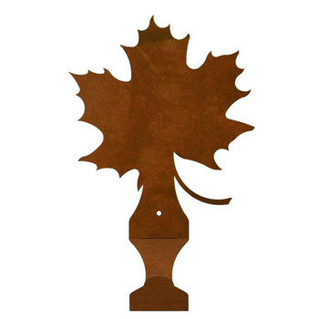 Maple Leaf Metal Drape Rod Holders