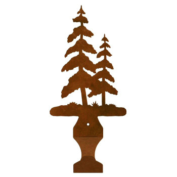 Pine Trees Metal Drape Rod Holders