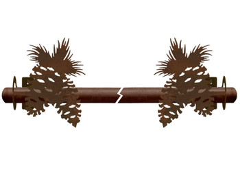 Pine Cones Metal Curtain Rod Holders