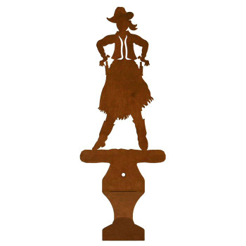 Cowgirl Metal Drape Rod Holders