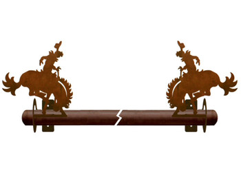 Bucking Bronco Rider Metal Curtain Rod Holders