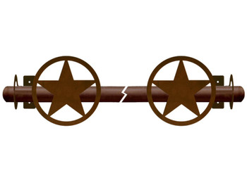 Texas Western Star Metal Curtain Rod Holders