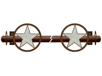 Burnished Texas Star Metal Curtain Rod Holders