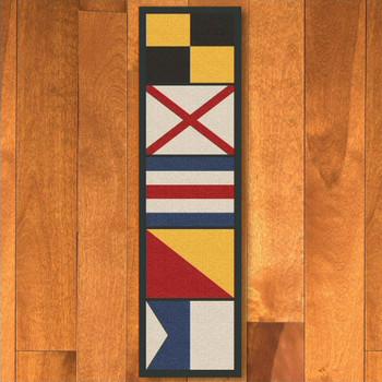 2' x 8' Nautical Signal Flag Rectangle Runner Rug
