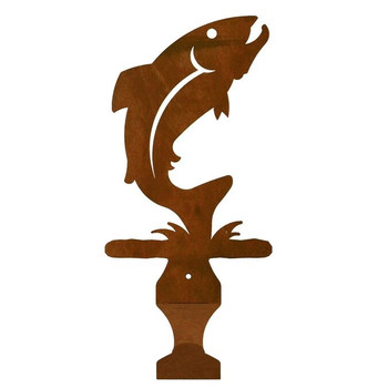 Trout Fish Metal Drape Rod Holders